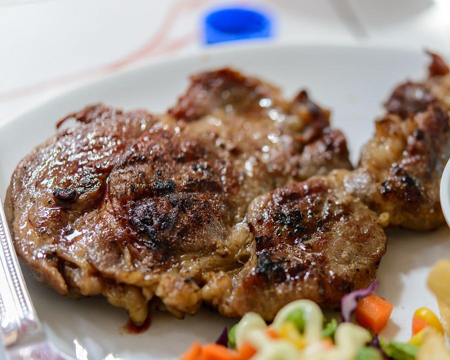 Steak, Beef, Plate, Grilled, Meat, Food, Dinner