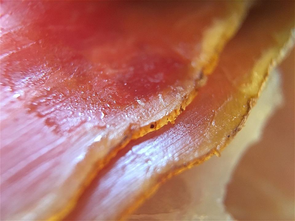 Prosciutto Ham, Smoked Prosciutto Ham, Striations, Meat