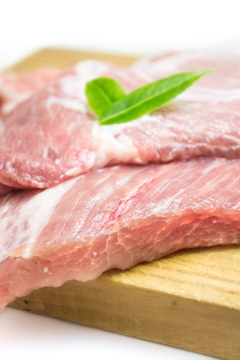 Meat, Pork, Raw Meat, Food, Meat Cutting, Power