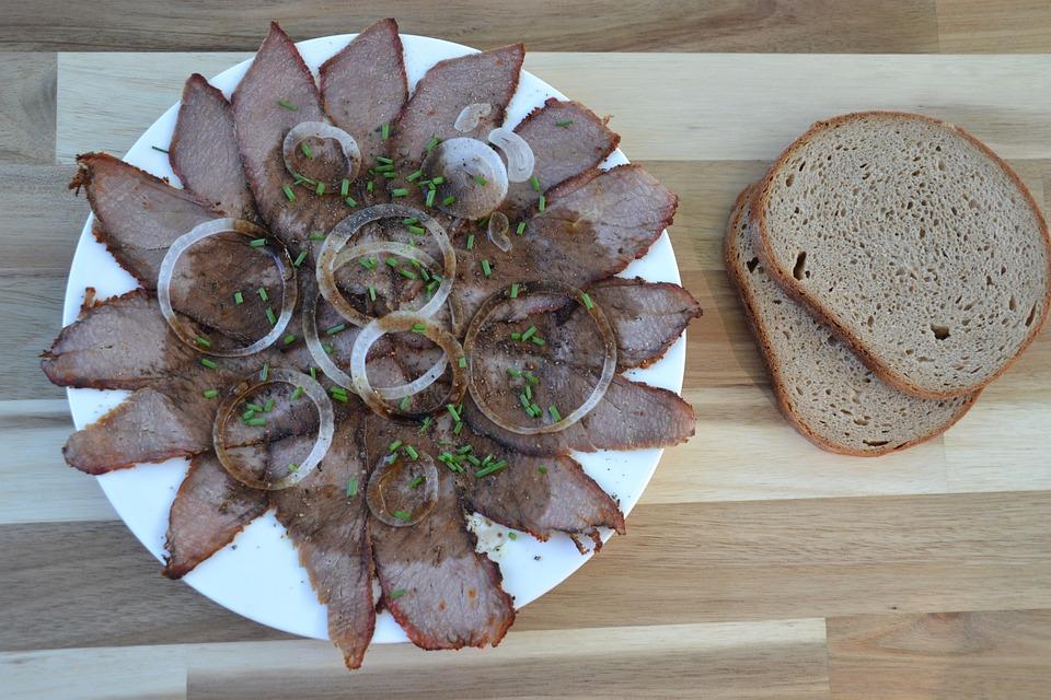 Snack, Beef, Vinegar, Oil, Onions, Meat Salad, Eat
