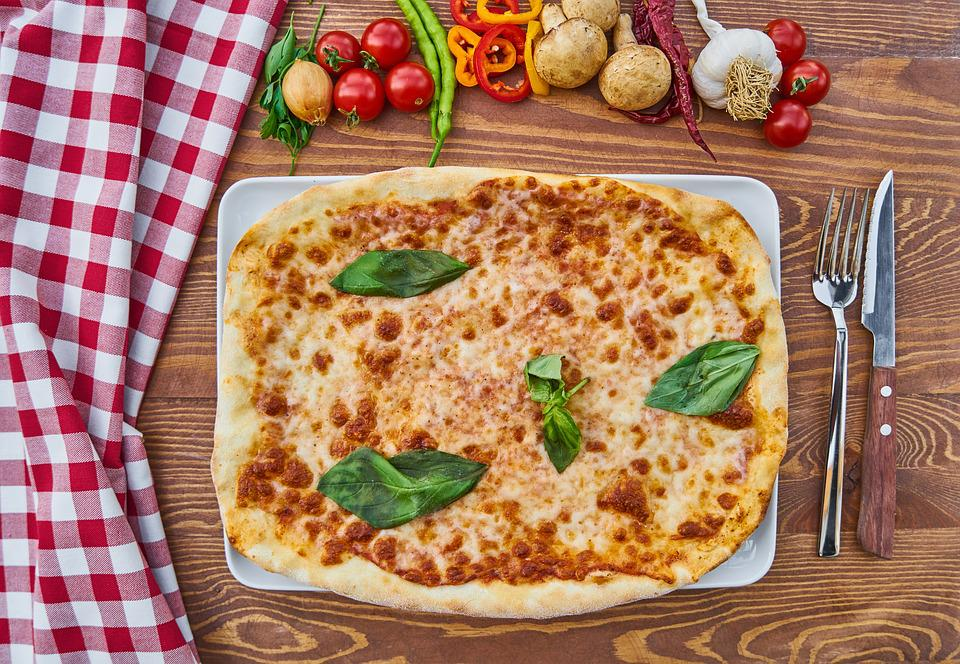 Pizza, Food, Meat, Bacon, Food Photo, Dough, Tomato