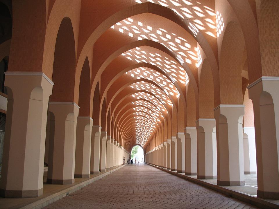 Mosque, Arcade, Corridor, Interior, Perspective, Mecca