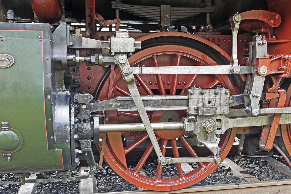 Steam Locomotive Drive, Mechanics, Cylinder, Piston Rod