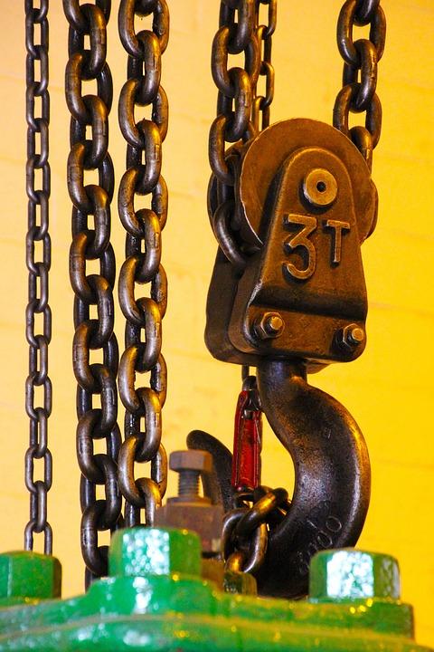 Chain, Winch, Equipment, Hoist, Mechanism, Metallic