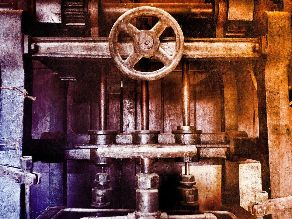 Mechanism, Machine, Old, Vintage, Sprockets, Gear