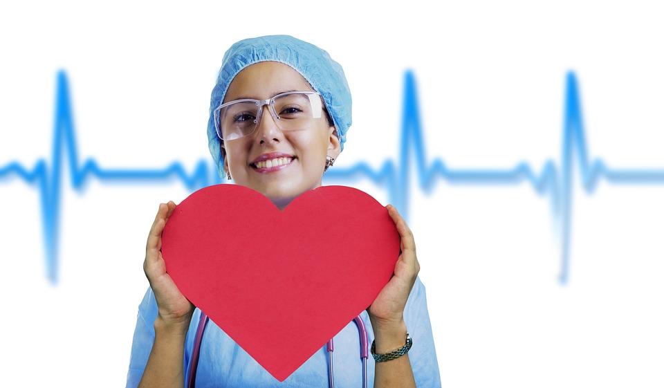 Nurse, Heart, Pulse, Stethoscope, Medical, Health