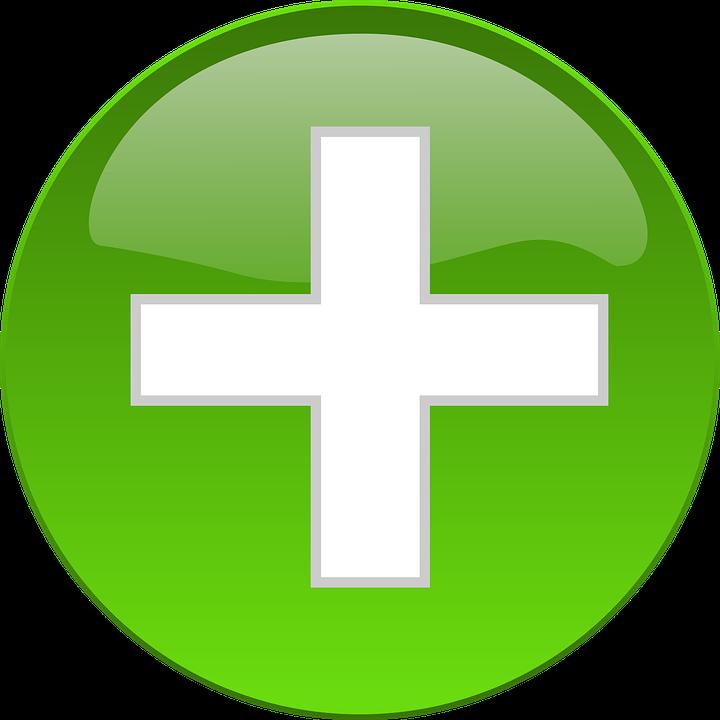 Green, Cross, Button, Medical, Medic, Sign, Symbol