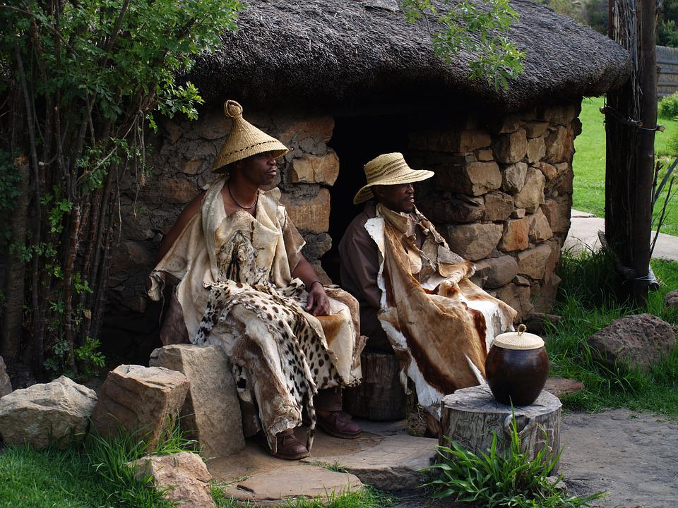 South Africa, Basotho, Chieftain, Medicine Man