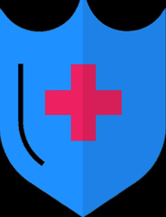 Medical, Shield, Disease, Medicine, Symbol, Spine, Icon