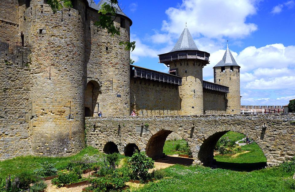 Castle, Medieval, Carcassonne, France, Fortress