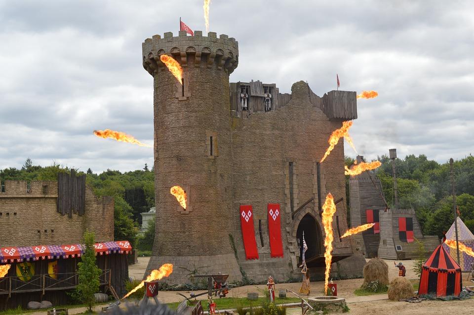 Castle, Fire, Medieval, Show, Medieval City