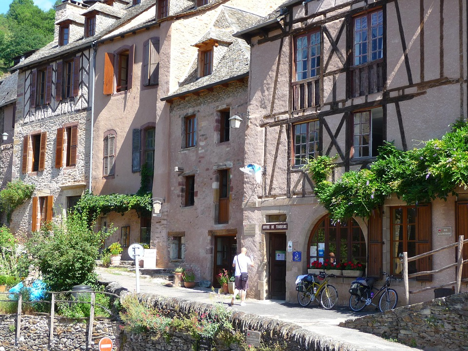 Village, Conques, Medieval, France