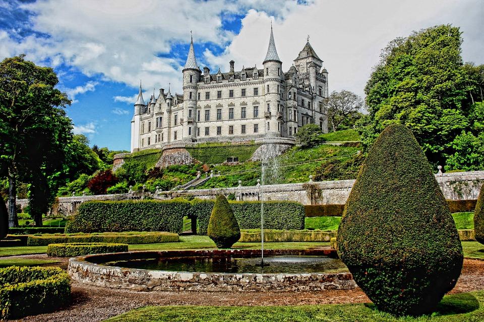 Dunrobin, Castle, Architecture, Medieval, Old, Building