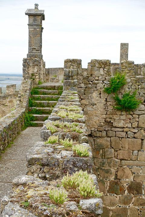 Wall, Embattlement, Weeds, Medieval, Stone, Heritage