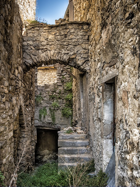 Medieval House, Building, Former, Wall, Pierre