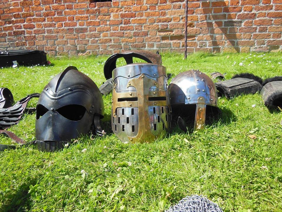 Medieval, Knight Helmets, Barrel Helmet, Kettle, Helmet