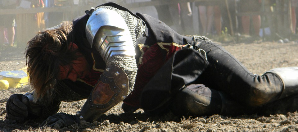 Knight, Beaten, Medieval, Battle, Ancient, Metal