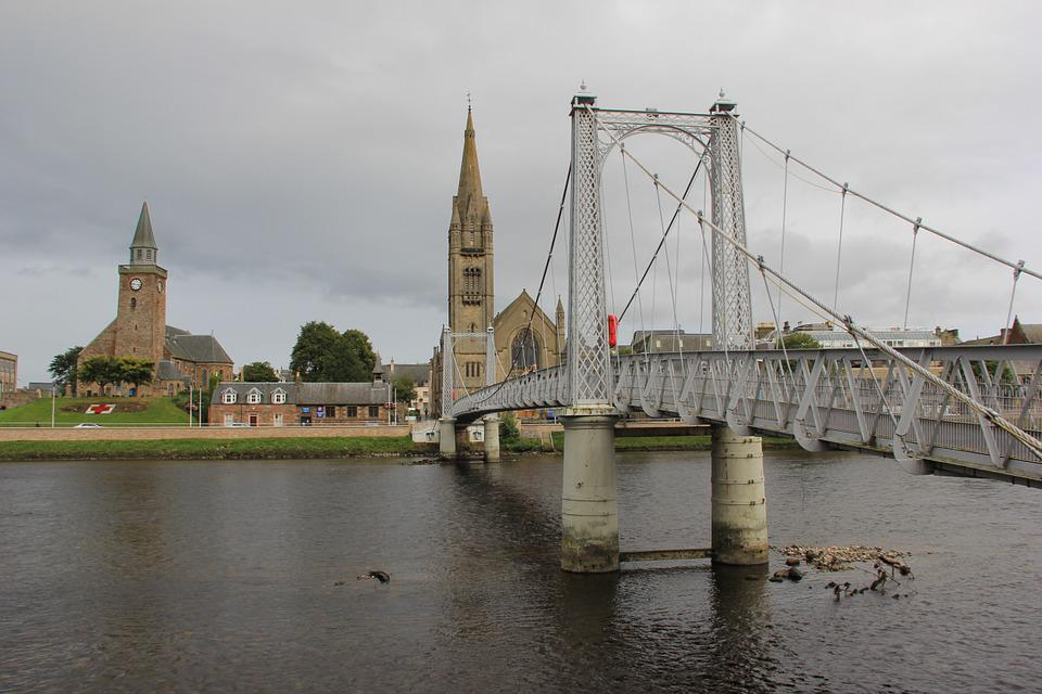 Bridge, Scotland, Scottish, Landmark, Medieval, Town