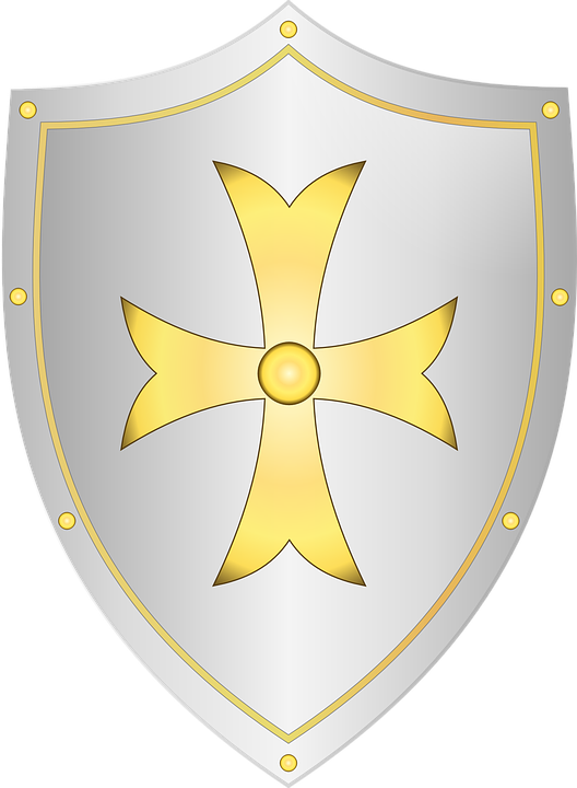 Shield, Medieval, Knight, Cross, Battle, Weapon
