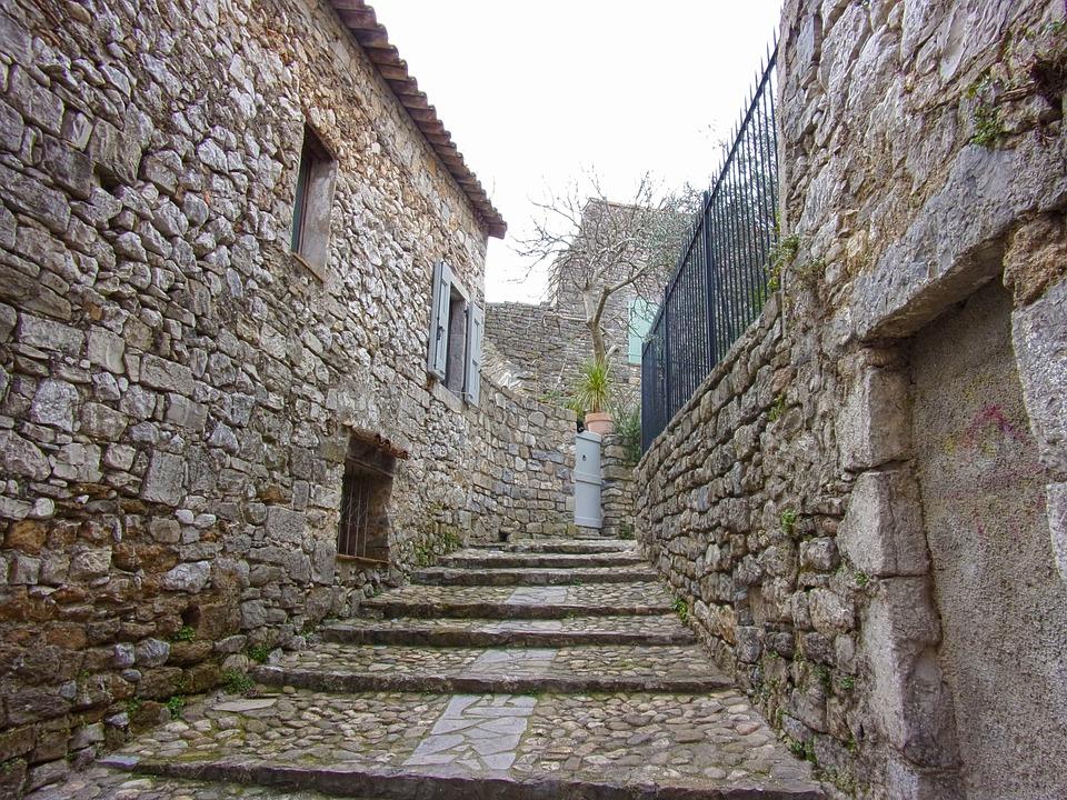 Medieval, Village, Lane, Medieval Village, Pavers