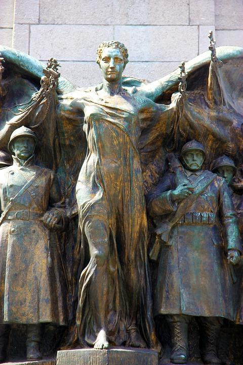 Memorial, War, Monument, Statue, Warrior, Medieval