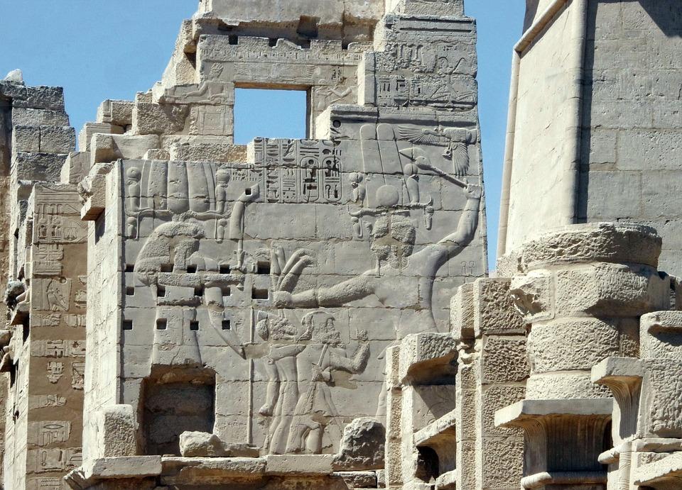 Egypt, Medinet-habu, Temple, Pylon, Monument