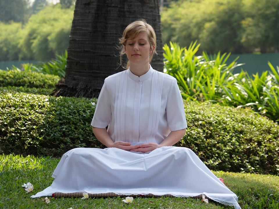 Meditate, Woman, Buddhist, Wat, Phra Dhammakaya, Temple