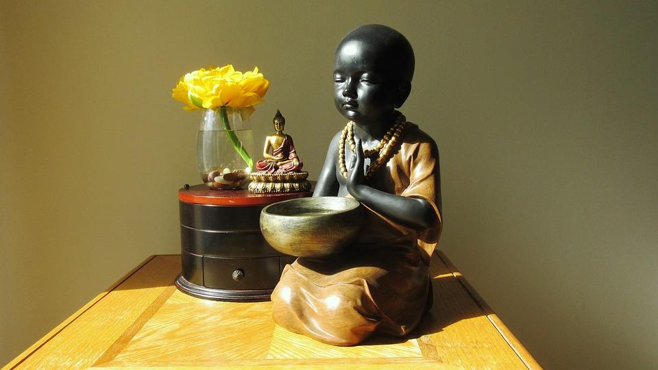 Baby Monk, Meditation, Home, Buddhism