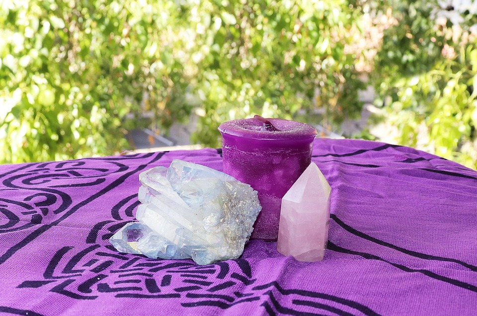 Crystal, Candle, Meditation, Rose Quartz, Candles