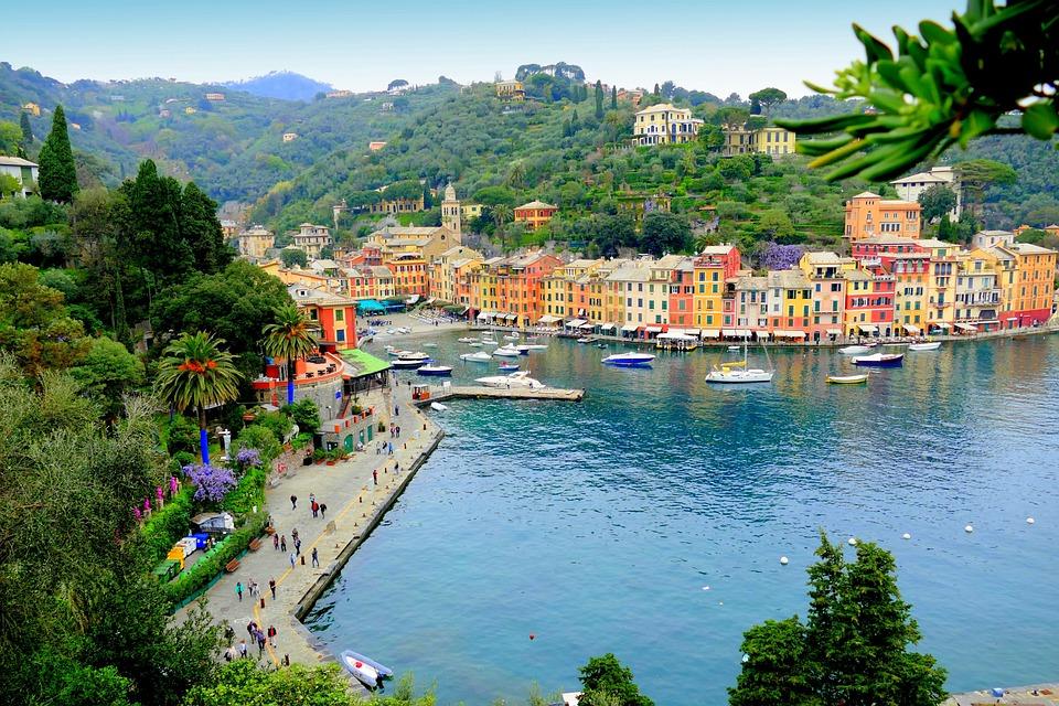 Italy, Port, Cinque Terre, Boats, Sea, Mediterranean