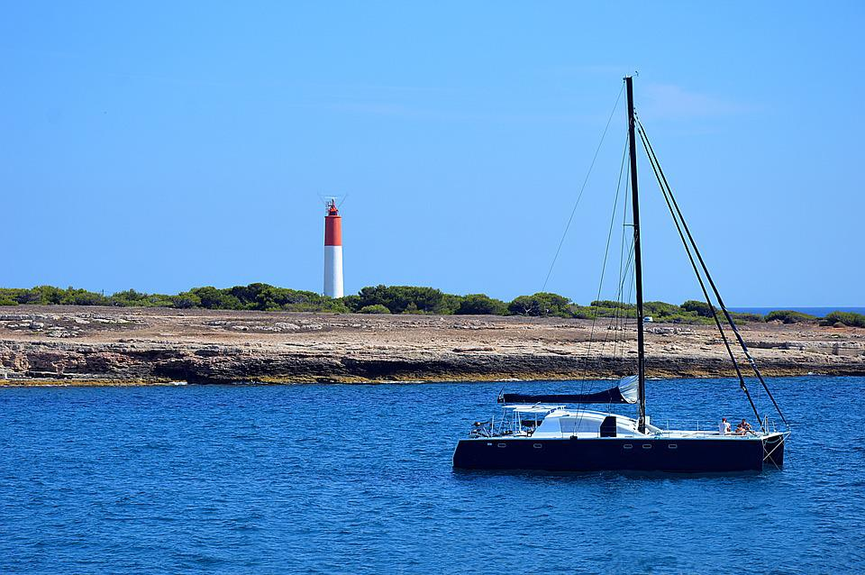Catamaran, Boat, Sailboat, Blue, Sea, Mediterranean