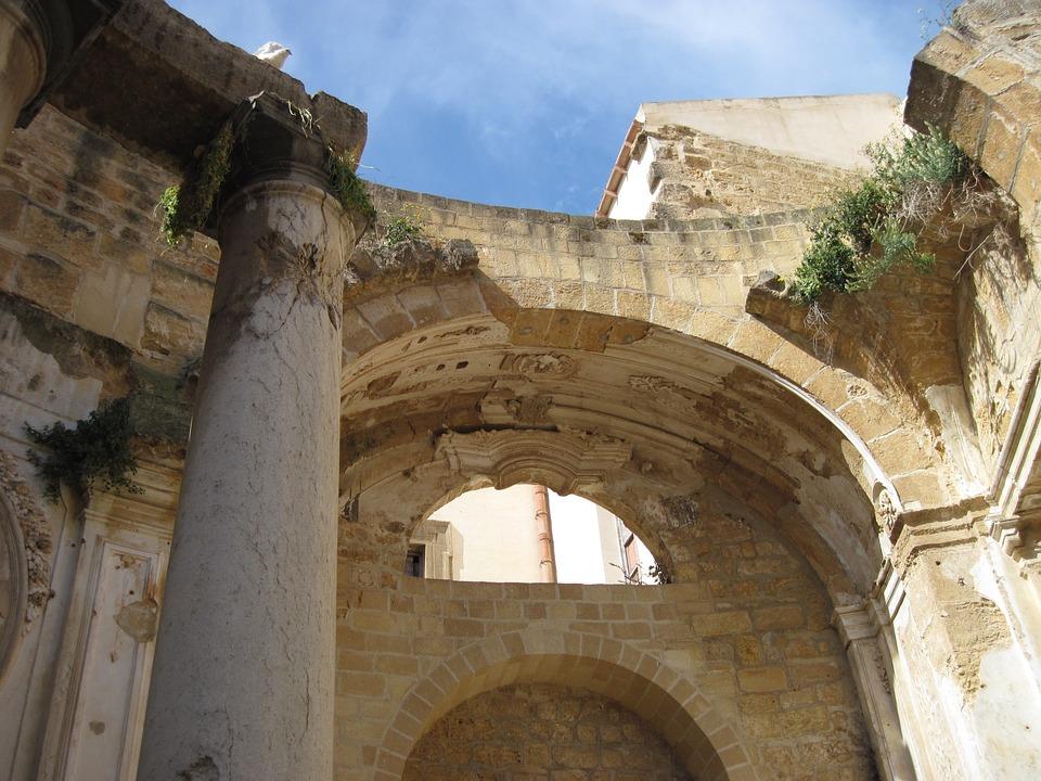 Southern Europe, Church, Old, Ruin, Mediterranean