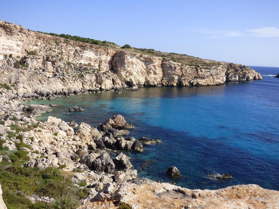 Malta, Mediterranean, Summer, Sea, Blue, Europe, Island