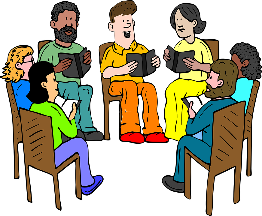 Teachers, Meeting, Books, Reading, Group, Discussion