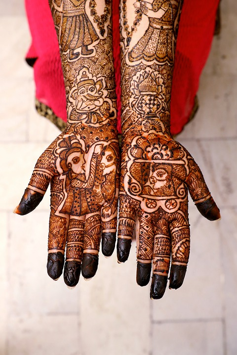 Mehndi, Hands, Tattoo, Bride, Wedding, Henna, Body Art