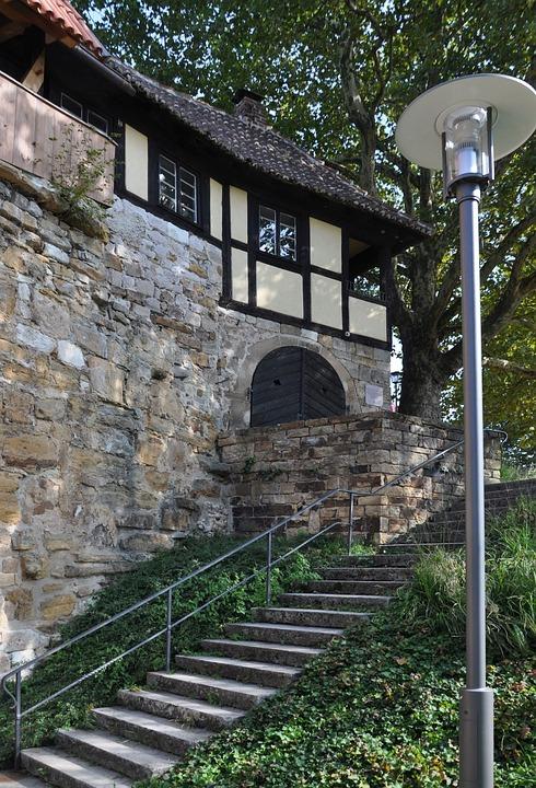Esslingen, Neckar, Castle, Melac-house, Melac, Truss