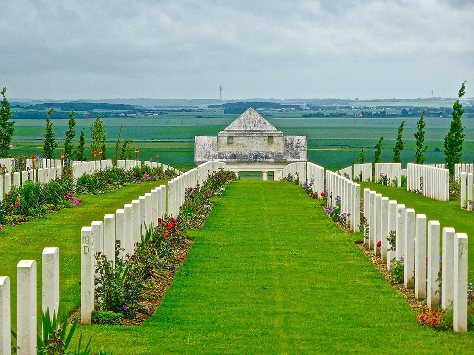 Gravestones, Soldiers, Memorial, Military, Cemetery