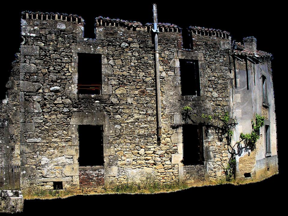 France, Oradoure, Ruins, Memorial, Village