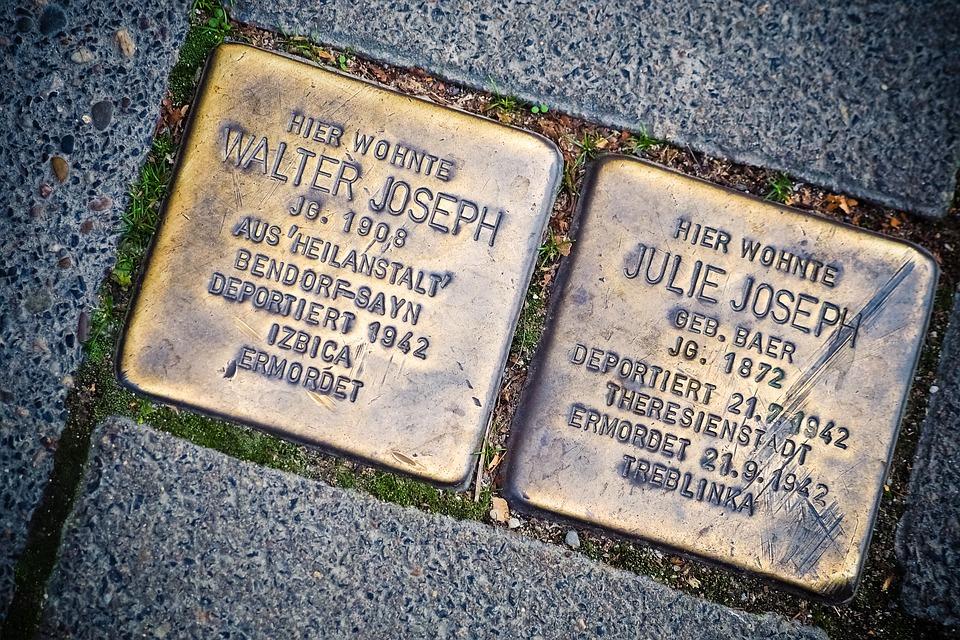 Stumbling Blocks, Memory, Brass, Memorial, Holocaust