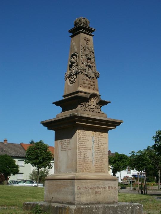 Kriegerdenkmal, Ketsch, Prussian, War, Memorial