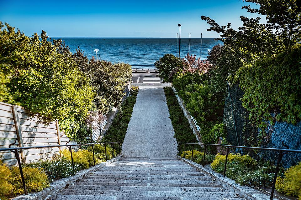 Memorial Stairs, Le Havre, Summer, Normandy