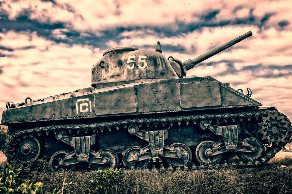Panzer, Memorial, France, Normandy, D Day, War, Defense