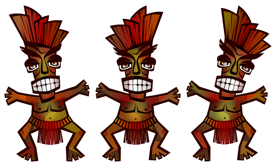 Polynesian, Tribal, Dance, Men, Culture