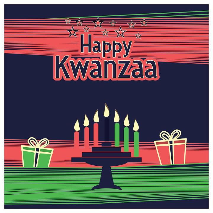 Happy Kwanzaa, Kinara, Menorah, Seven Candles