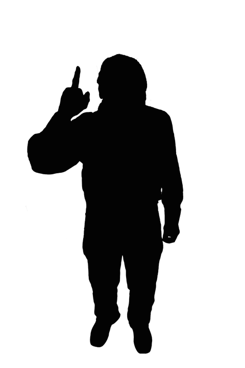 Silhouette, Black, Men's, Man, Adult, Attention