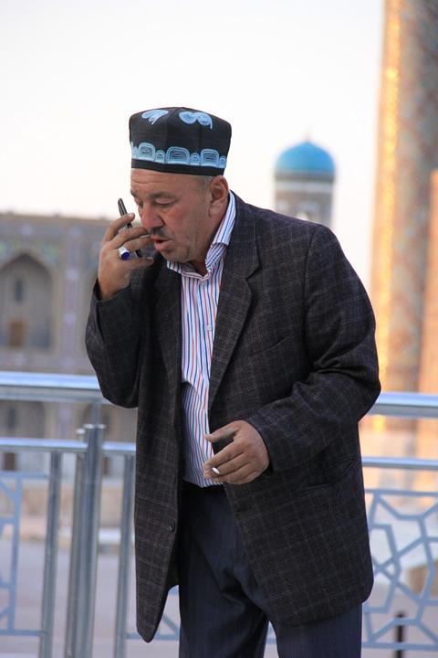Uzbek, Uzbekistan, Men's, Man, Phone, Shop, Negotiation