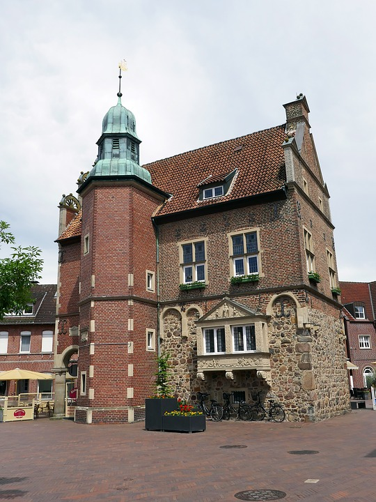 Meppen, Town Hall, Historic Center, Facade, Germany