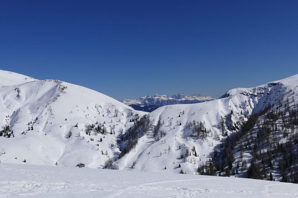 Shooting Area, Meran 2000, Dolomites, Wintry, Snow