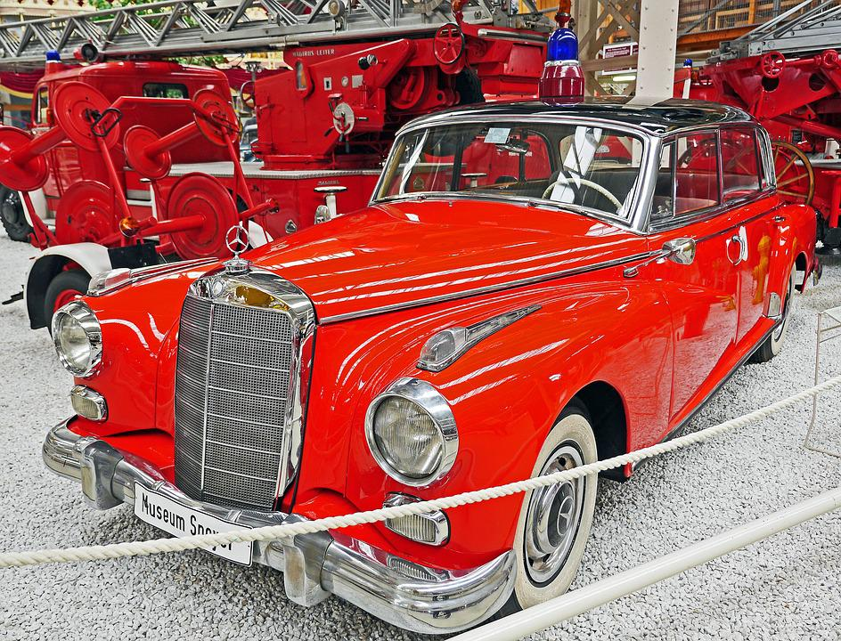 Fire, Fire Chief, Mercedes 300, Adenauer Mercedes