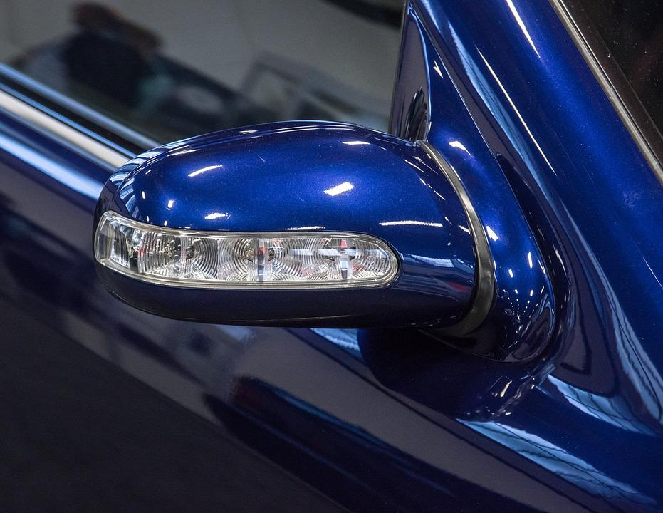 Mercedes, Mirror Turn Signal Lights, Clear Glass